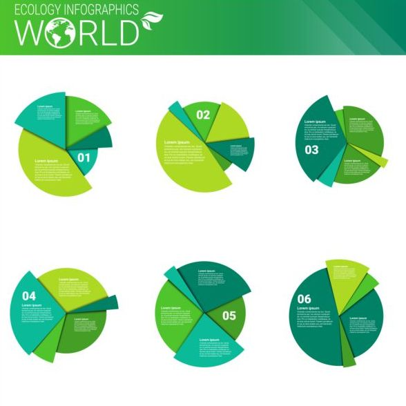 Ecology world infographics design vector 02