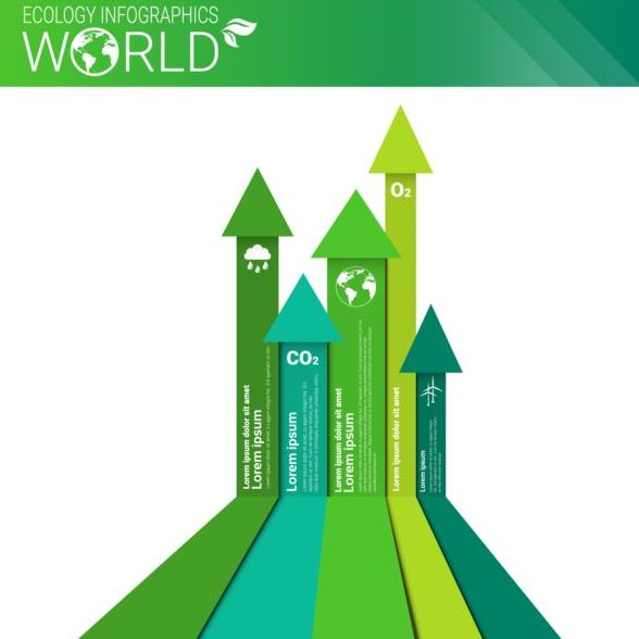 Ecology world infographics design vector 03