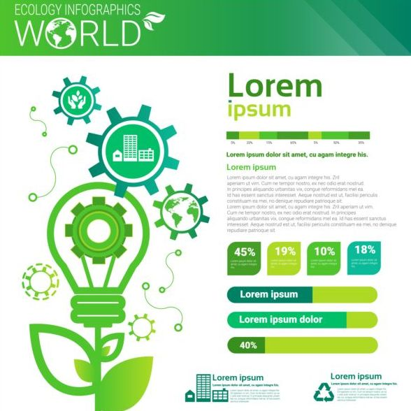 Ecology world infographics design vector 05