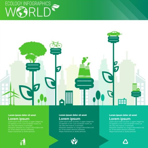 Ecology world infographics design vector 07