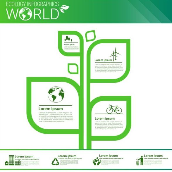 Ecology world infographics design vector 08