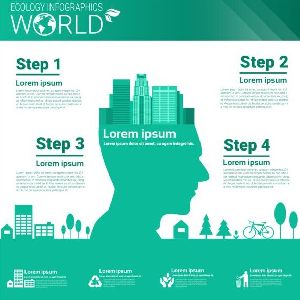 Ecology world infographics design vector 09