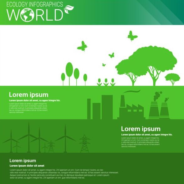 Ecology world infographics design vector 11