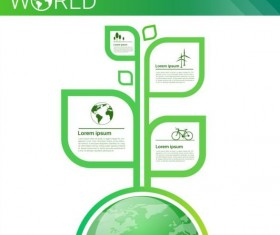 Ecology world infographics design vector 13