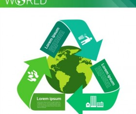 Ecology world infographics design vector 15