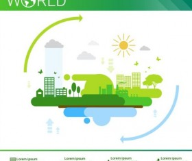 Ecology world infographics design vector 16