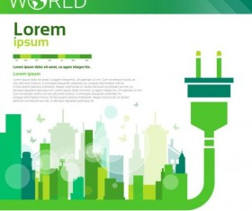 Ecology world infographics design vector 18