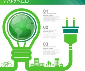 Ecology world infographics design vector 20
