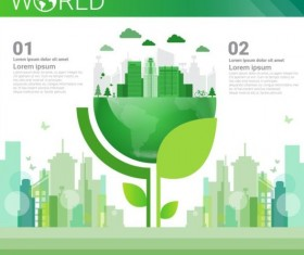 Ecology world infographics design vector 21