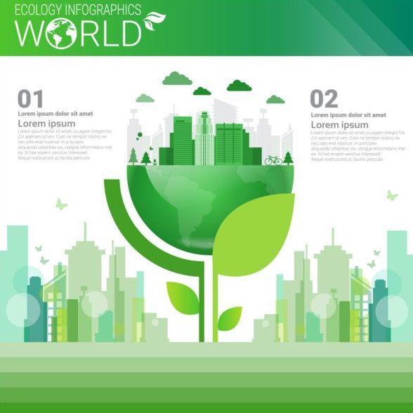 Ecology world infographics design vector 21
