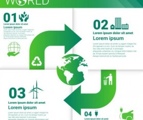 Ecology world infographics design vector 22