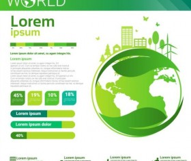 Ecology world infographics design vector 23