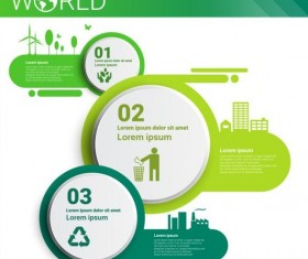 Ecology world infographics design vector 24