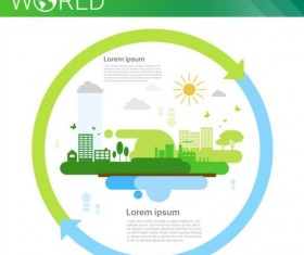 Ecology world infographics design vector 25