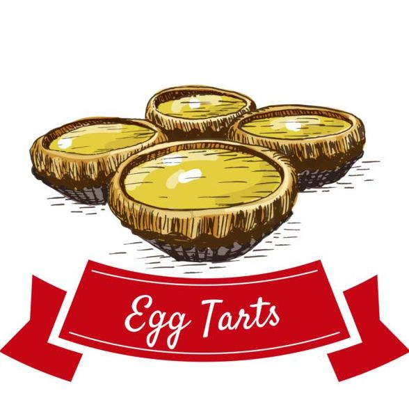 Egg tarts vector