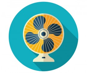 Electric fan round icon