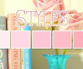 Estilos rosas Photoshop Styles