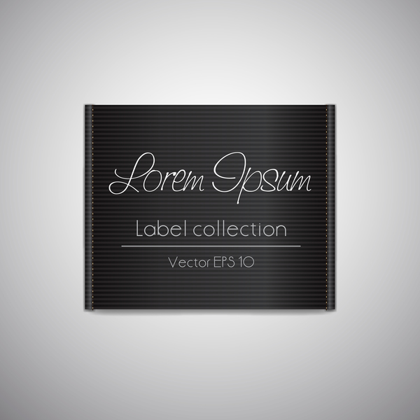 Fabric tag black template vector 05