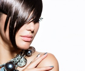 Fashion hairstyles and jewelry Stock Photo 02