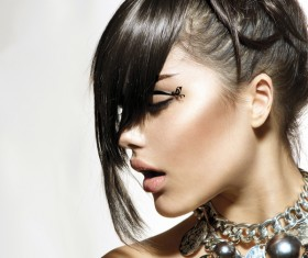 Fashion hairstyles and jewelry Stock Photo 06