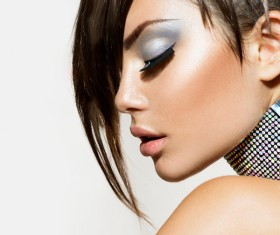 Fashion hairstyles and make-up Stock Photo