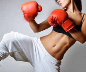 Female Muay Thai Stock Photo