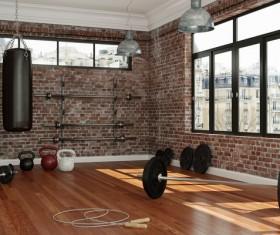 Fitness room Stock Photo 01