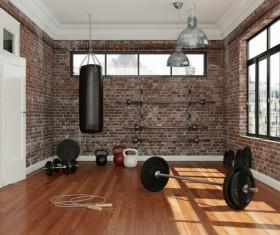 Fitness room Stock Photo 02