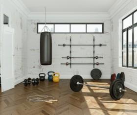 Fitness room Stock Photo 03