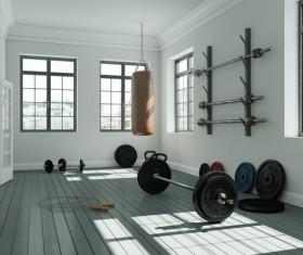 Fitness room Stock Photo 04