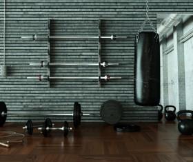 Fitness room Stock Photo 05
