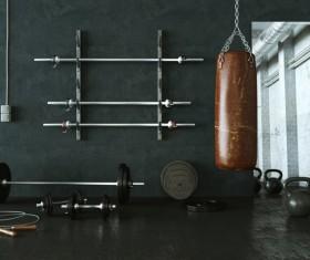 Fitness room Stock Photo 07