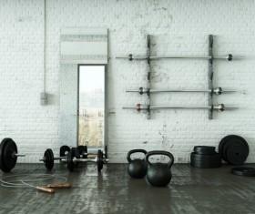 Fitness room Stock Photo 08