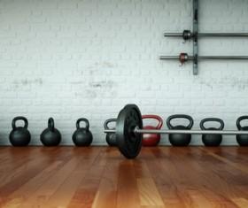 Fitness room Stock Photo 10
