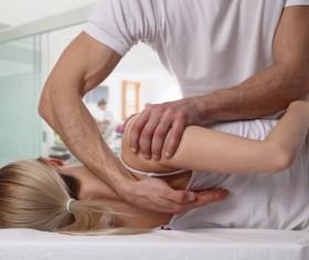 Frozen shoulder massage technique Stock Photo 04