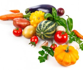 Fruits and vegetables with a white background HD picture