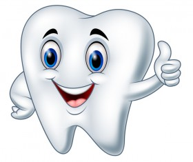 Funny cartoon tooth vector illustration 02