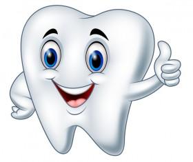 Funny cartoon tooth vector illustration 02
