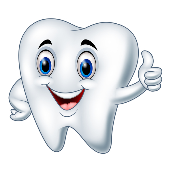 funny cartoon tooth vector illustration 02 free download