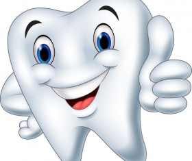 Funny cartoon tooth vector illustration 03