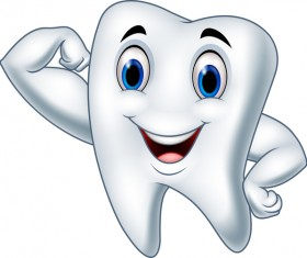 Funny cartoon tooth vector illustration 04