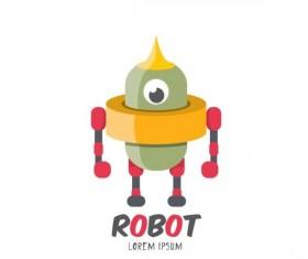 Funny robot cartoon vectors set 14