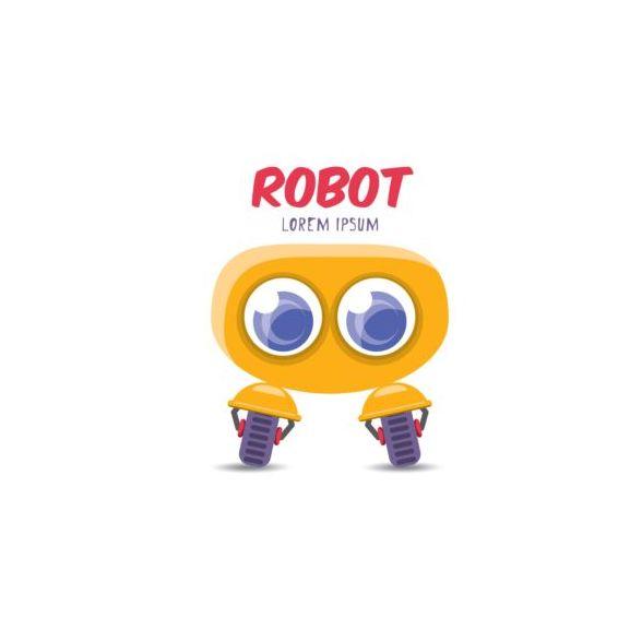 Funny robot cartoon vectors set 15