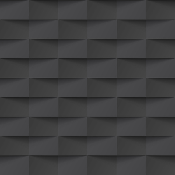 Geometric patterns texture black vector 02