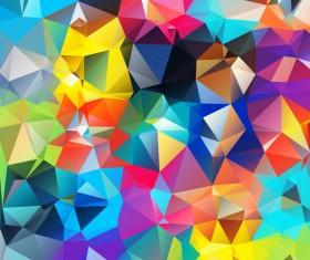Geometric polygon colorful background vectors 01