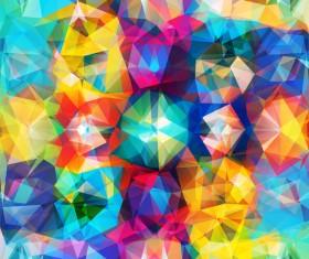 Geometric polygon colorful background vectors 03