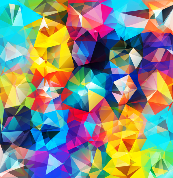 Geometric polygon colorful background vectors 04