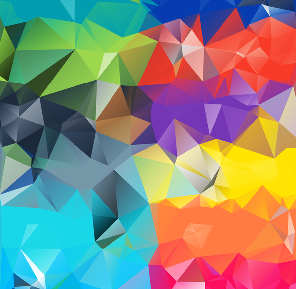 Geometric polygon colorful background vectors 05