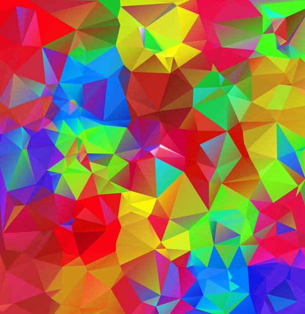 Geometric polygon colorful background vectors 06 Vector