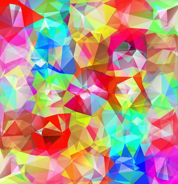 Geometric polygon colorful background vectors 07